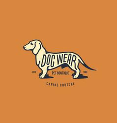 dachshund logo vector image