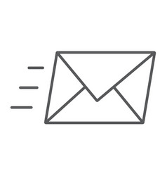 email thin line icon business and address vector image