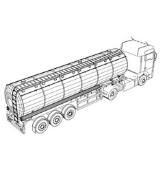 Euro truck cistern tracing vector