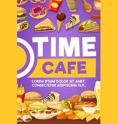 fast food snack and dessert vector image