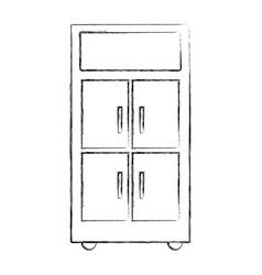 Figure office cabinet archive file organization vector