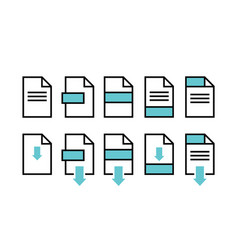 File download icons symbols empty type vector