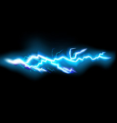 Flashes lightning isolated on transparent vector