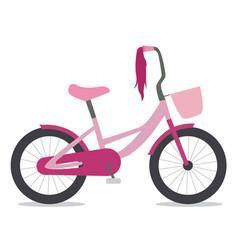flat of children bike vector image
