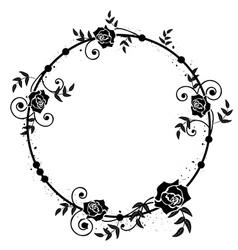 Floral roses frame vector