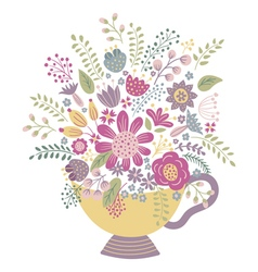 flower cup vector image vector image