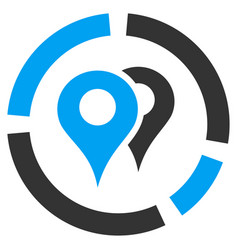 Geo diagram flat icon vector