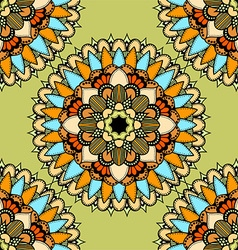 Green Mandala Patterned Background vector
