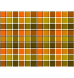 Green orange khaki check seamless background vector