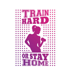 gym t-shirt design print with exercising girl vector image