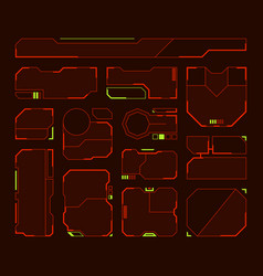 Hud elements futuristic frames and borders vector