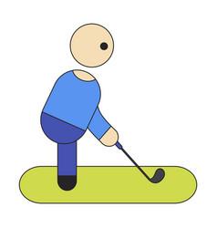 Icon in flat design stick figure golf vector