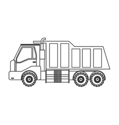 Industrial cargo truck icon vector