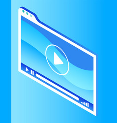 media display symbol for digital marketing vector image