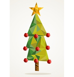 Merry Christmas tree triangle composition EPS10 vector image