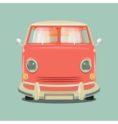 Minibus cartoon colorful vector image