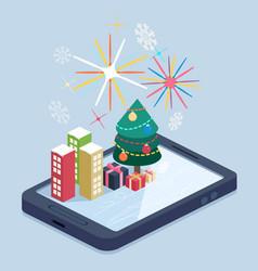 mobile app concept vector image