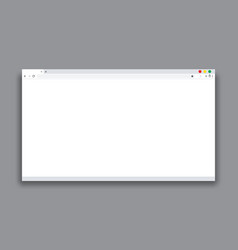 modern browser window design isolated on gray vector image