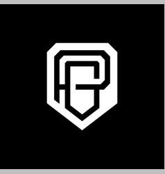 modern professional logo monogram pg in business vector image