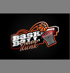 Modern professional typography basketball sport vector