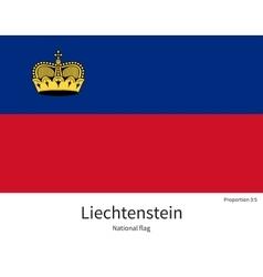 National flag liechtenstein with correct vector