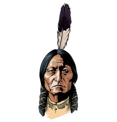 native american chief vector image