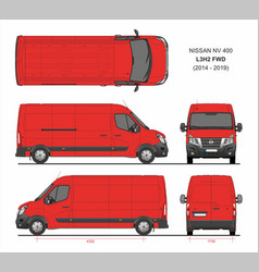 Nissan nv400 cargo delivery van l3h2 fwd 2014-2019 vector