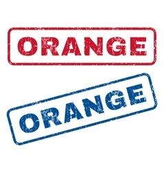Orange Rubber Stamps vector