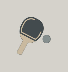 Ping pong racket vector