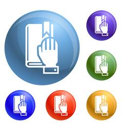 Political oath icons set vector