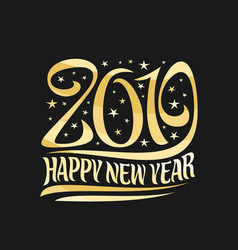 poster for 2019 new year vector image