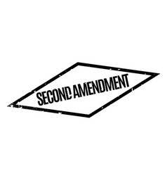 Second amendment rubber stamp vector
