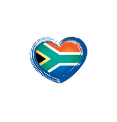 South African Flag Heart Cufflinks X2BOCH013