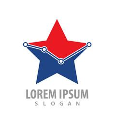 star graph point concept design symbol graphic vector image