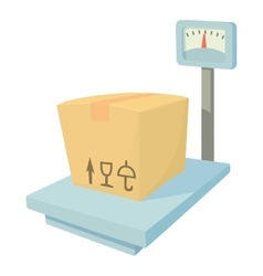 Storage scales icon cartoon style vector