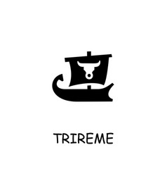 Trireme flat icon vector