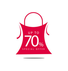 Up to 70 special offer template design vector