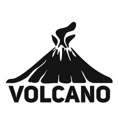 volcano mountain logo simple style vector image