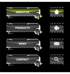 web navigation templates vector image
