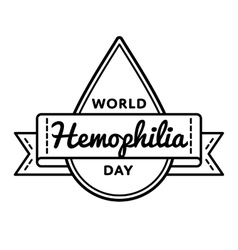 World Hemophilia day greeting emblem vector