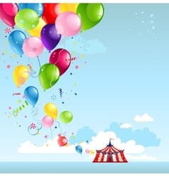 Circus tent and balloons vector image
