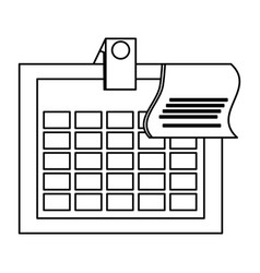 isolated office calendar vector image vector image