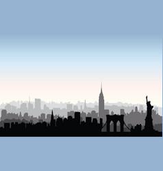 new york city buildings silhouette american urban vector image vector image