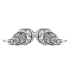 Ornate mustache shape for your design vector image