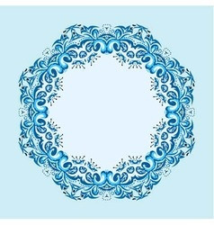round frame from abstract element vector image