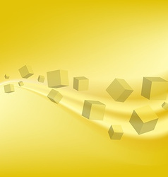 Design technology yellow geometric background vector image
