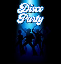 disco dancing people vector image