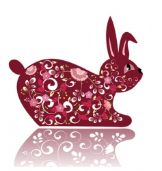 flower bunny vector image