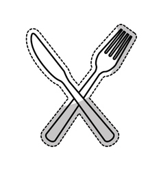 kitchen cutlery icons vector image
