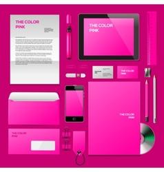 Pink Corporate ID mockup vector image